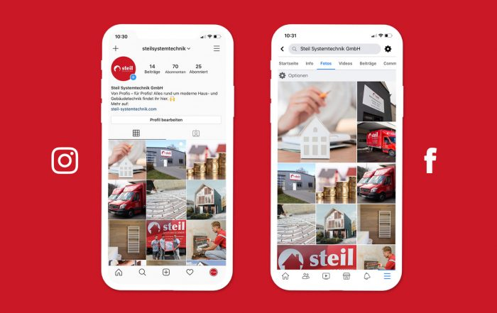 Steil Systemtechnik auf Facebook und Instagram