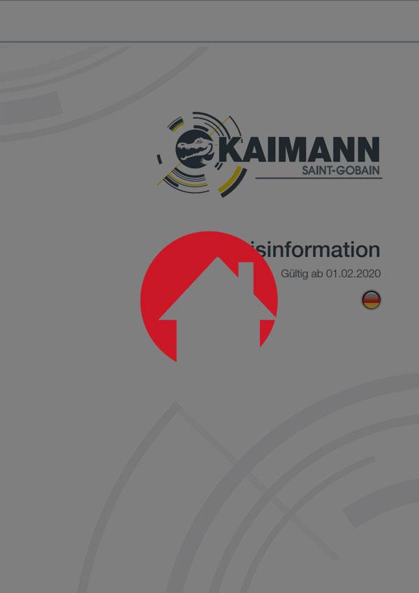 Kaimann Preisinformation