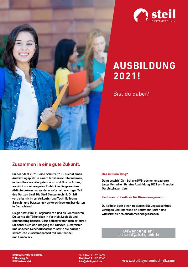Ausbildung 2021, Steil Systemtechnik