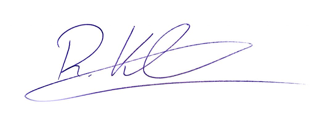 Unterschrift Robin Kloeckner