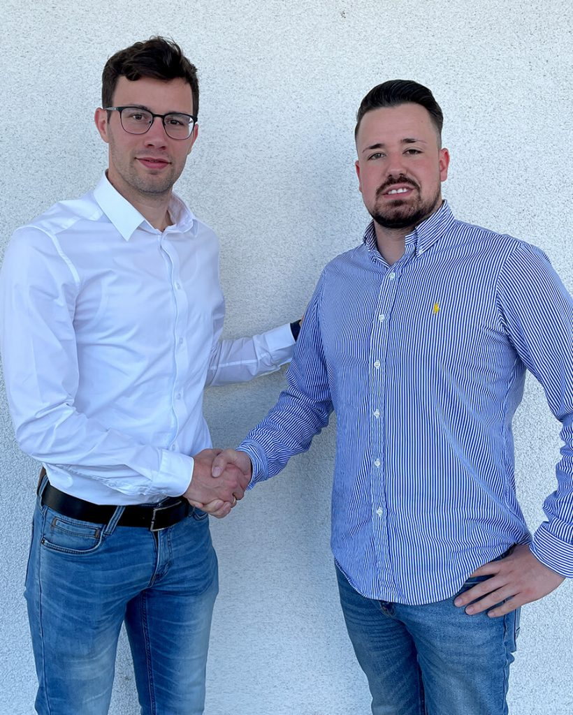 Geschäftsführer Robin Klöckner und David Jung